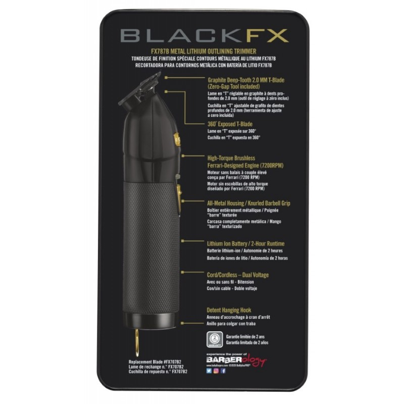 #FX787BN BabylissPro BlackFX Lithium Outliner Trimmer