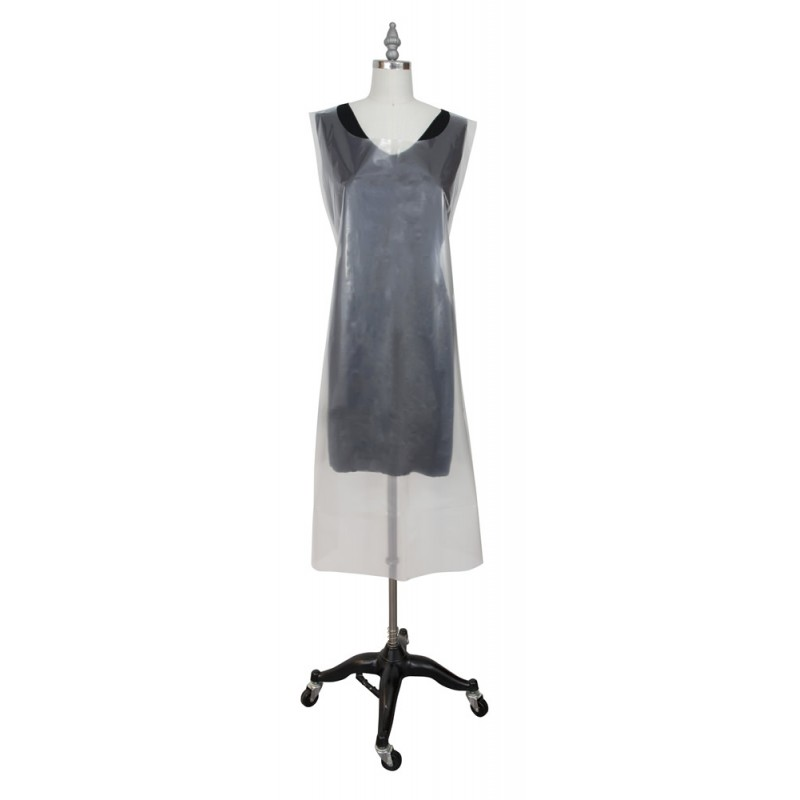 #F6411 Fromm Disposable Apron Clear 100/pk