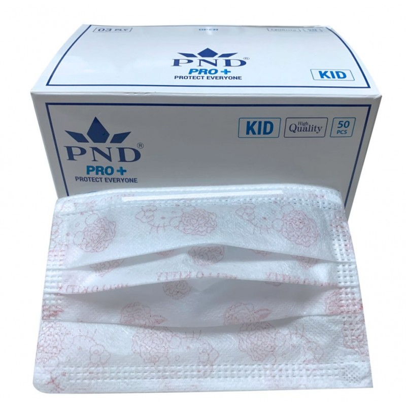 #22213  Kid's Disposable Face Mask 50/bx  - Pink